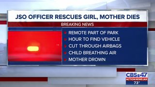 Officer rescues 5-year-old, mother dies in submerged car