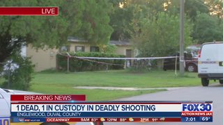One person in custody after deadly shooting