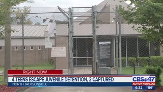 4 Teens escape from juvenile detention, 2 captured