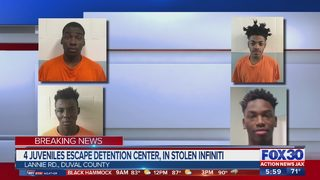 Four juvenile inmates escape from facility