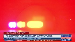 JSO: Officer cuts through airbag to save 5-year-old