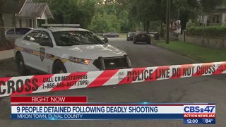 9 detained following deadly shooting in Mixon Town area