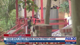 Man shot, killed inside home on Nixon Street in Jacksonville