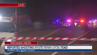 Reported shooting shuts down local road