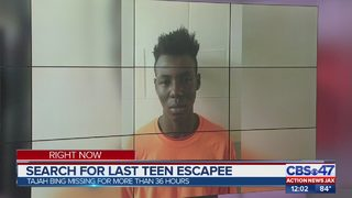 Search continues for last teen escapee
