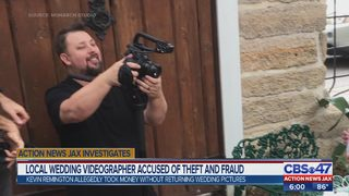 Local wedding videographer accused of theft and fraud