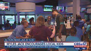 Myles Jack encourages local kids