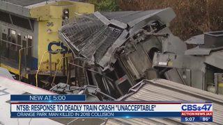 "NTSB: Response to deadly train crash ""unacceptable"""