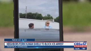 Neighbors form human shield to block ICE arrest