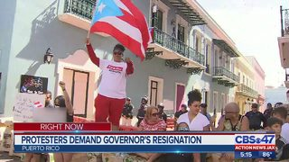 Protesters demand governor