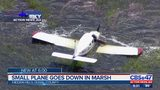 Small plane goes down in marsh near Dames Point Bridge
