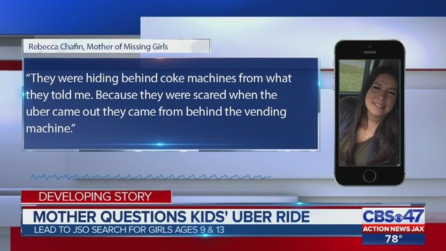 Uber driver helps JSO locate missing girls he picked up