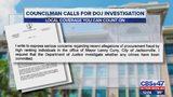 Push for DOJ investigation