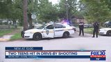 Two teens shot in drive-by shooting