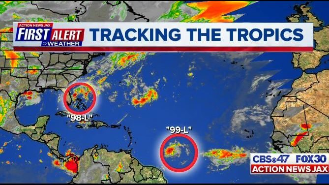 JACKSONVILLE WEATHER: Tracking the tropics: Tropical or subtropical depression likely to form next week