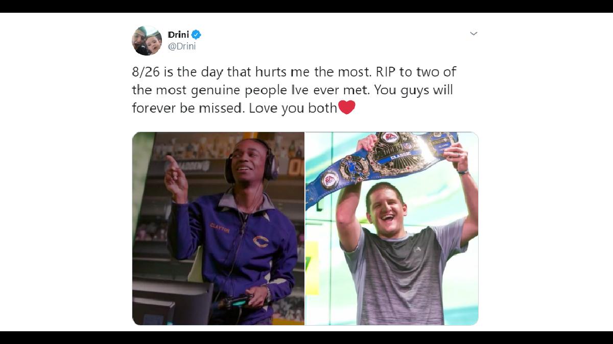 Professional gamer Drini Gjoka, who was shot at Jacksonville Madden tournament, tweets condolences