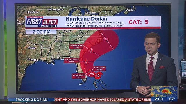 HURRICANE DORIAN JACKSONVILLE IMPACTS: Live updates: Hurricane Dorian's track shifts east