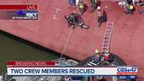 EXCLUSIVE: Sky Action News Jax captures rescue of 1 of the trapped crew members off St. Simons Island