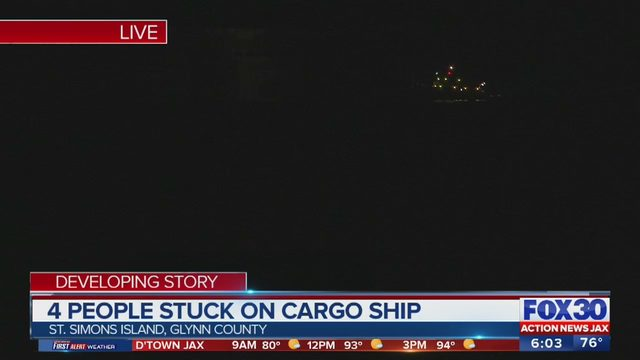 CARGO SHIP CAPSIZED: 3 of 4 trapped crew members rescued