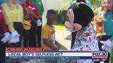 Local boy's selfless act for Hurricane Dorian evacuees