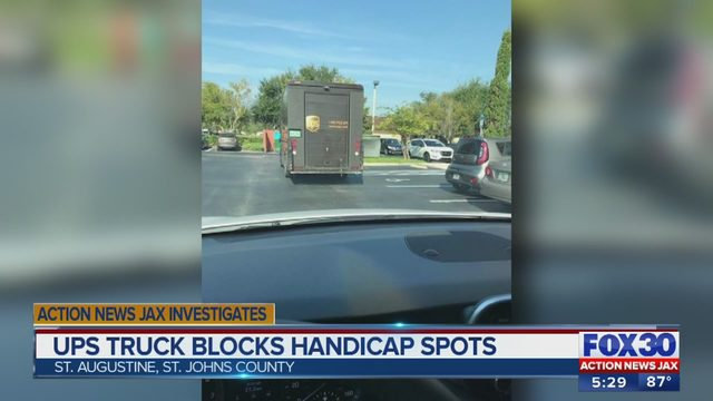 UPS driver apologizes after woman takes picture of truck