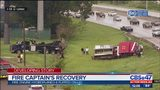 Fire captain's recovery after fire truck flips on I-10