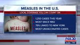 Measles treated locally