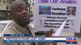 Protests over lost internet cafe jobs