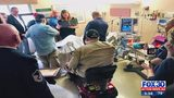 Social media post brings dozens to veterans bedside